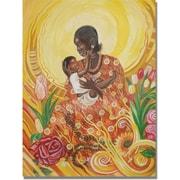 "Trademark Global Djibrirou Kane ""Expressions of Affection"" Canvas Arts"