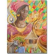 "Trademark Global Djibrirou Kane ""Fulani Beauty"" Canvas Arts"