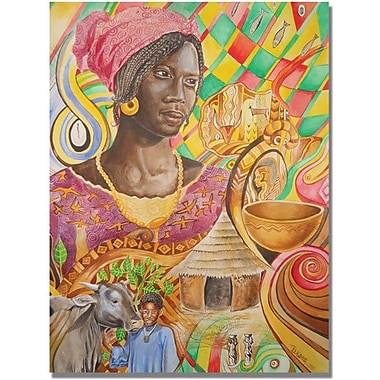 Trademark Global Djibrirou Kane in.Fulani Beautyin. Canvas Art, 32in. x 24in.