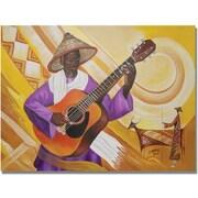 "Trademark Global Djibrirou Kane ""Guitarist in Traditional Attire"" Canvas Arts"