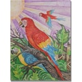 Trademark Global Djibrirou Kane in.Parrots in Pointillismin. Canvas Arts