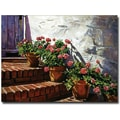 Trademark Global David Glover in.Geranium Stepsin. Canvas Art, 24in. x 32in.