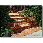 "Trademark Global David Glover ""A Spanish Garden"" Canvas Art, 24"" x 32"""