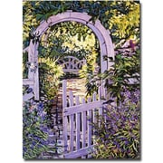 "Trademark Global David Glover ""Country Garden Gate"" Canvas Art, 32"" x 24"""