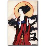 "Trademark Global Garner Lewis ""Japanese Woman"" Canvas Art, 24"" x 16"""