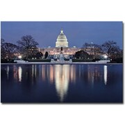 "Trademark Global Gregory Ohanlon ""Capitol Reflections"" Canvas Art, 16"" x 24"""