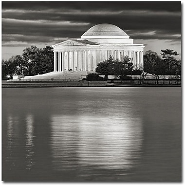 Trademark Global Gregory Ohanlon in.Jefferson Memorial- Nightin. Canvas Art, 18in. x 18in.