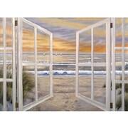 "Trademark Global Joval ""Elongated Window On"" Canvas Art, 14"" x 19"""