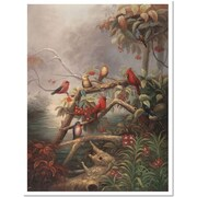 "Trademark Global Joval ""Birds"" Canvas Art, 32"" x 24"""