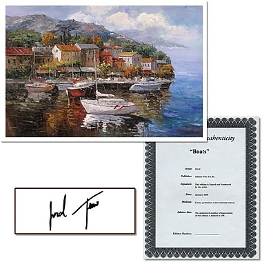 Trademark Global Joval in.Boatsin. Canvas Art, 24in. x 32in.