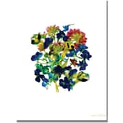 "Trademark Global Kathie McCurdy ""Blue Delphiniums Small Clean"" Canvas Art, 24"" x 18"""