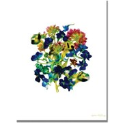 "Trademark Global Kathie McCurdy ""Blue Delphiniums Small Clean"" Canvas Art, 47"" x 30"""