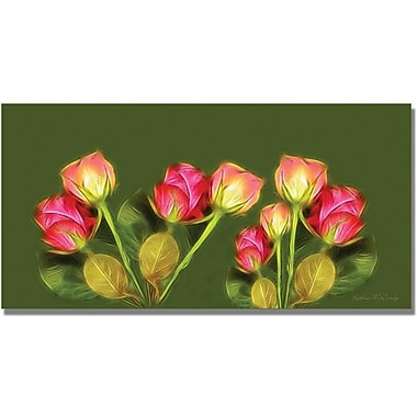 Trademark Global Kathie McCurdy in.Roses Frieze Largerin. Canvas Art, 24in. x 47in.