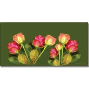 "Trademark Global Kathie McCurdy ""Roses Frieze Larger"" Canvas Art, 24"" x 47"""