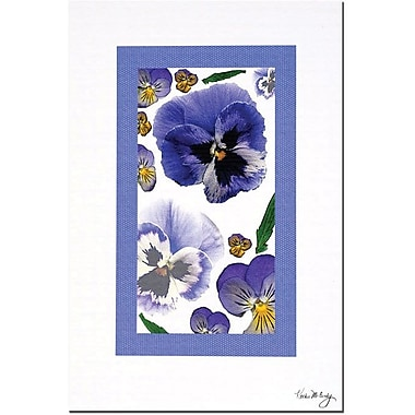 Trademark Global Kathie McCurdy in.Pansy Windowin. Canvas Art, 24in. x 16in.