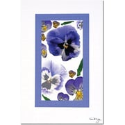"Trademark Global Kathie McCurdy ""Pansy Window"" Canvas Art, 24"" x 16"""