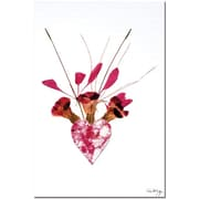 "Trademark Global Kathie McCurdy ""From the Heart"" Canvas Art, 24"" x 16"""