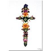 "Trademark Global Kathie McCurdy ""Centered Heart"" Canvas Art, 24"" x 16"""