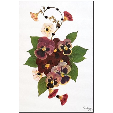 Trademark Global Kathie McCurdy in.Enchanted Garden Pansy Patchin. Canvas Art, 24in. x 16in.