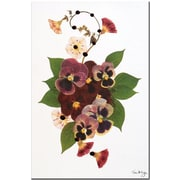 "Trademark Global Kathie McCurdy ""Enchanted Garden Pansy Patch"" Canvas Art, 24"" x 16"""