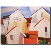 "Trademark Global Adam Kadmos ""Coastal Village"" Canvas Art, 24"" x 32"""