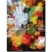 "Trademark Global Adam Kadmos ""City Paint"" Canvas Art, 24"" x 18"""