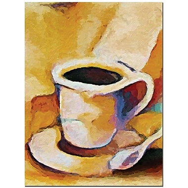 Trademark Global Adam Kadmos in.Coffeein. Canvas Art, 24in. x 18in.