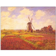 "Trademark Global Claude Monet ""Tulips in a field"" Canvas Art, 14"" x 19"""