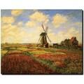 Trademark Global Claude Monet in.Tulips in a fieldin. Canvas Art, 18in. x 24in.