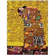 Trademark Global Gustav Klimt Fufillment Canvas Art, 18 x 24