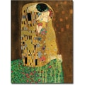 Trademark Global Gustav Klimt in.The Kissin. Canvas Art, 24in. x 18in.
