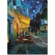 Trademark Global Vincent Van Gogh in.Cafe Terracein. Canvas Art, 14in. x 19in.