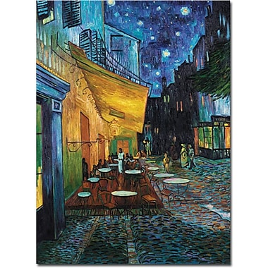 Trademark Global Vincent Van Gogh in.Cafe Terracein. Canvas Art, 24in. x 32in.