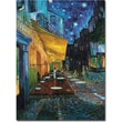 Trademark Global Vincent Van Gogh in.Cafe Terracein. Canvas Art, 35in. x 47in.