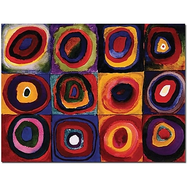 Trademark Global Wassily Kandinisky in.Karbstudie Quadratein. Canvas Art, 18in. x 24in.