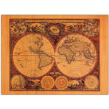 Trademark Global Michelle Calkins in.World Mapin. Canvas Art, 14in. x 19in.