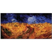 "Trademark Global Vincent Van Gogh ""Wheatfield with Crows"" Canvas Art, 24"" x 47"""