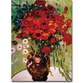 Trademark Global Vincent Van Gogh in.Dasies & Poppiesin. Canvas Arts