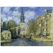 """Trademark Global Claude Monet """"The Zuiderkerk at Amsterdam"""" Canvas Art, 24"""" x 32"""""""