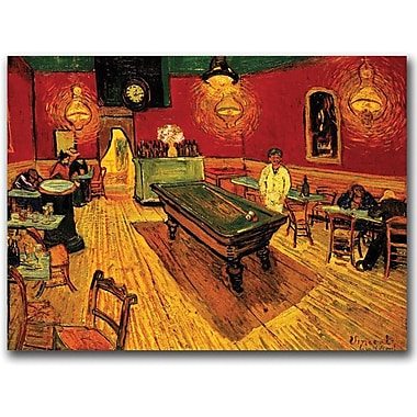 Trademark Global Vincent van Gogh in.The Night Cafein. Canvas Art, 14in. x 19in.