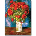 Trademark Global Vincent Van Gogh in.Poppiesin. Canvas Arts