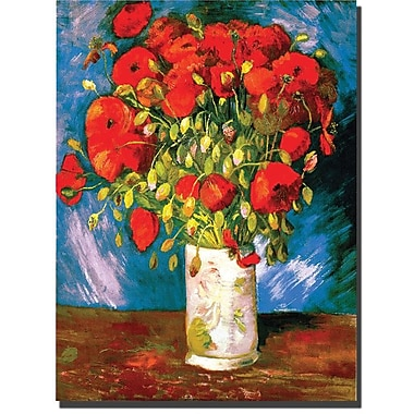 Trademark Global Vincent Van Gogh in.Poppiesin. Canvas Art, 32in. x 24in.
