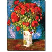 "Trademark Global Vincent Van Gogh ""Poppies"" Canvas Art, 47"" x 35"""