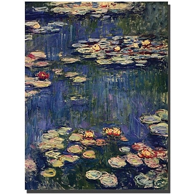 Trademark Global Claude Monet in.Water Liliesin. Canvas Art, 32in. x 24in.