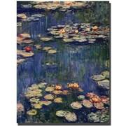 """Trademark Global Claude Monet """"Water Lilies"""" Canvas Art, 47"""" x 35"""""""