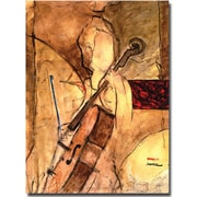 "Trademark Global Joarez ""Old Cello"" Canvas Arts"