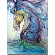 "Trademark Global Osay ""Caballo Azul"" Canvas Art, 32"" x 24"""