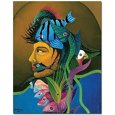 Trademark Global Armando in.Looking At Youin. Canvas Art, 24in. x 18in.