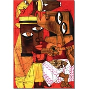 "Trademark Global ""Jammin in Red"" Canvas Art, 24"" x 18"""