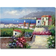 "Trademark Global ""Mediterranean Blue"" Canvas Art, 35"" x 47"""